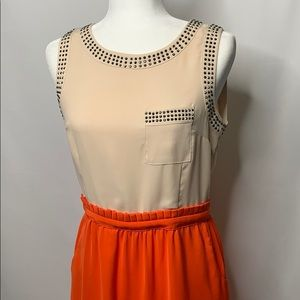 C. Luce Studded Pocket Dress Medium